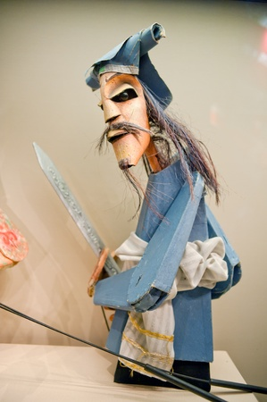 dramatic characters: Human sculptures in the puppet theater, Made in China