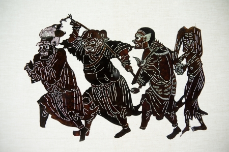 dramatic characters: Chinese Shadow Art