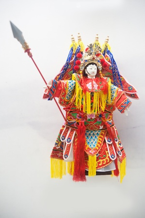 Human sculptures in the puppet theater, Made in China photo