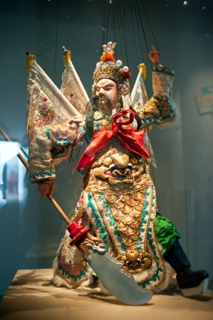 Esculturas de humanos en el teatro de t�teres, Made in China Foto de archivo - 13956657