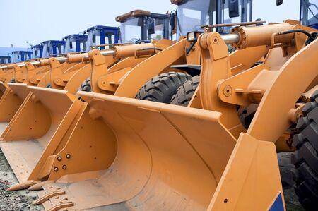 Row of Excavators