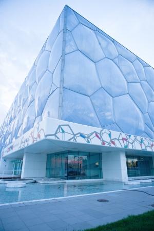 piscina olimpica: Local de Pekín nacional de natación centro, cubo de agua