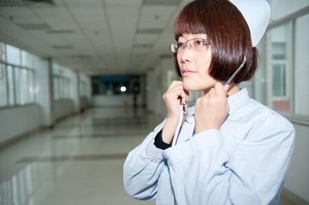 Smiling nurse at work photo