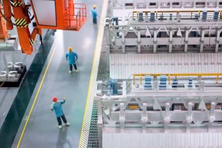 Thermal power plants inside the electrical equipment production line