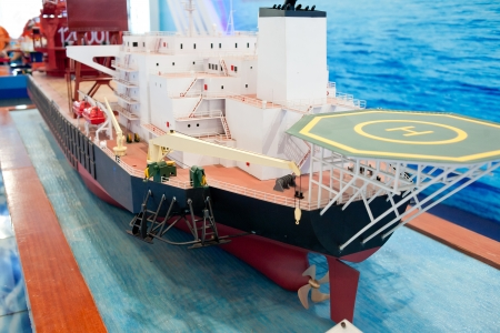 mining ship: A ship model of oil at sea mining