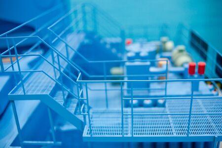 aisles: Factory production line aisle