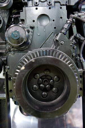 flanges: Automotive engine Stock Photo