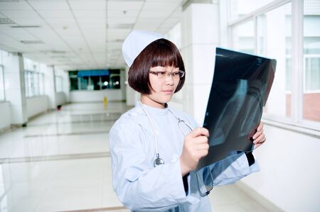 Smiling nurse at work photo