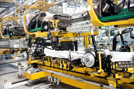 factory line: Automobile manufacturing factory