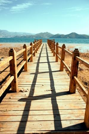 Yunnan, China, Lugu Lake scenery Stock Photo