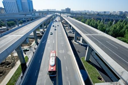 Viaduc panoramique de la ville Banque d'images