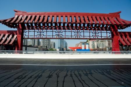 viaducts: Chengdu, China, city viaduct