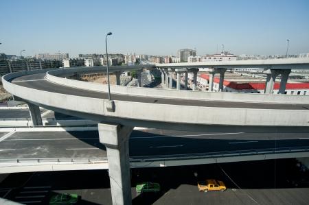 overpass: Panoramic city overpass Stock Photo