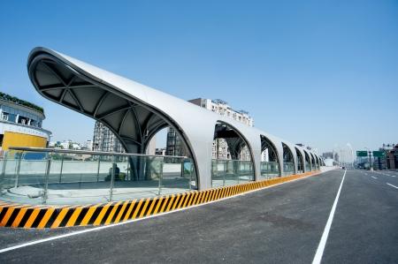 Panoramic city overpass Banco de Imagens