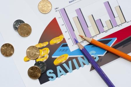 Financial statements, Painted Figure  Stok Fotoğraf