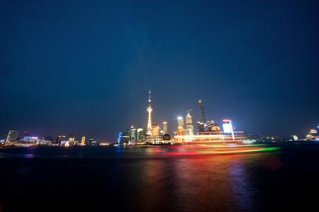 ze: Shanghai Night - Bund Stock Photo