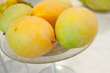 permutations: Fresh mango Stock Photo