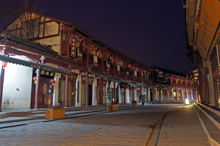 chengdu: Chengdu Ancient Town Night Editorial