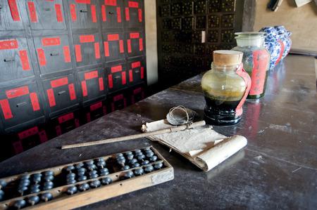 China  's ancient TCM pharmacy photo