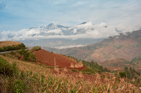 loess: Grand scenery of Dongchuan, Yunnan Stock Photo