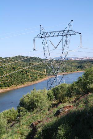 High voltage powerlines photo