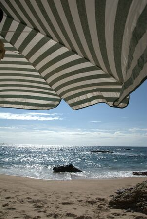 singleness: at the beach under the umbrella