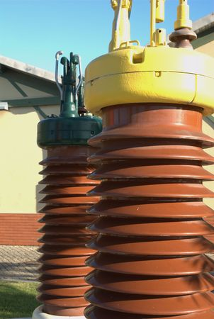 alternating: High voltage isolator Stock Photo