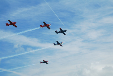 air show: airplane formation