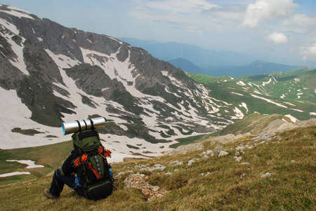 rockclimber: This is beautiful mountain landscape northern caucasia. Photo – Russia, june 2009.