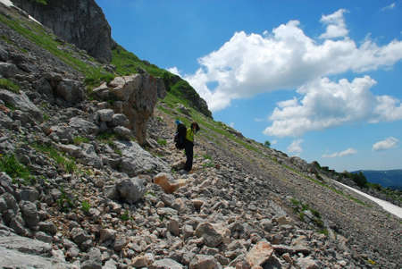 rockclimber: This is beautiful mountain landscape northern caucasia.