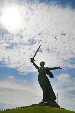 volgograd: Monument in Volgograd Stock Photo