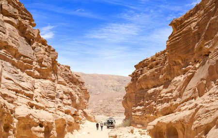 This photograph shows the mountains in the desert of Egypt Stock Photo