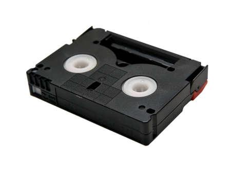 This mini DV cassette on white background Stock Photo - 7630262