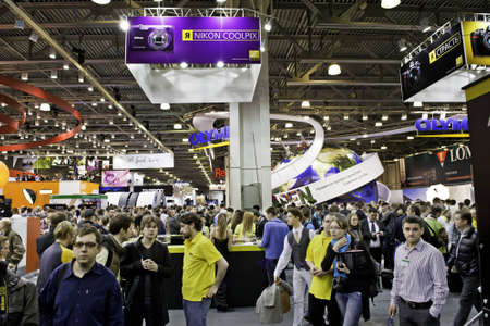 CONSUMER ELECTRONICS & PHOTO EXPO. Moscow, 14-17 april 2011 Stock Photo - 9350585