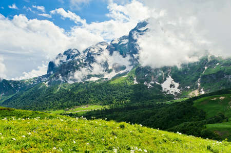 mountain landscape of the northern Caucasus. Russia Stock Photo