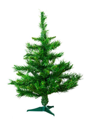 artificial fir tree isolated on white background