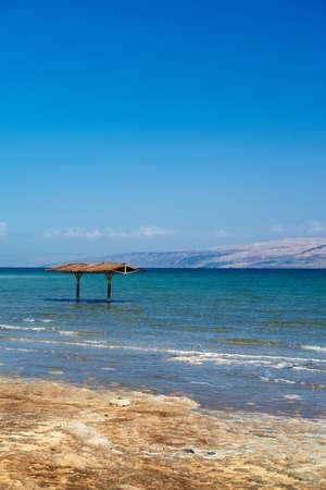 Mineral salts on coast of the Dead Sea, photo