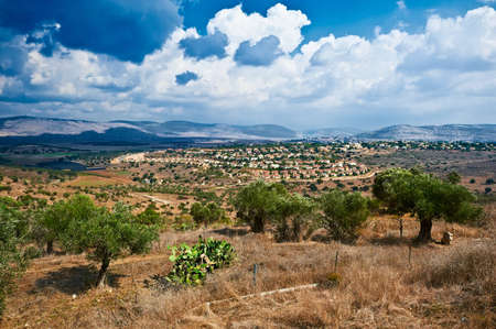 panorama of the village from the national park Zippori. Israel