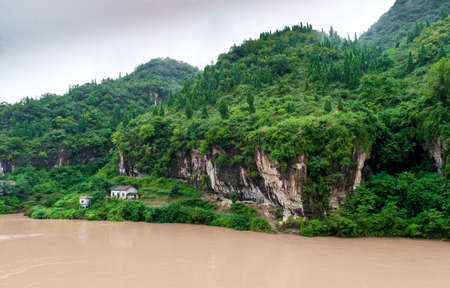 yangtze: Traveling by ship between the mountains on the Yangtze River