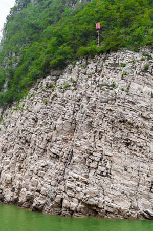 Journey to the tributary of the Yangtze with a mountain view