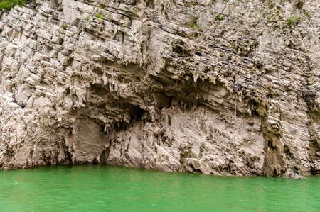 inflow: beautiful Chinese mountain in the Yangtze River