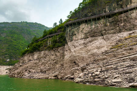 Chinese Bridge along the cliffs of the Yangtze River