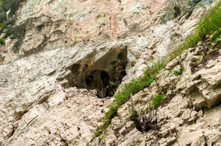 A small cave in the mountains of the Yangtze River