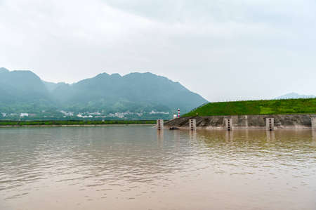 reservoir on the Yangtze River in China near the Three Gorges dam Stock Photo