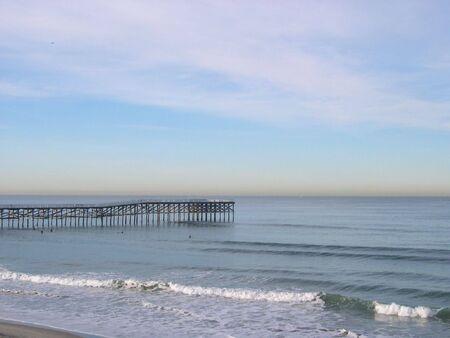 Pacific Beach shoreline, San Diego. Stock Photo