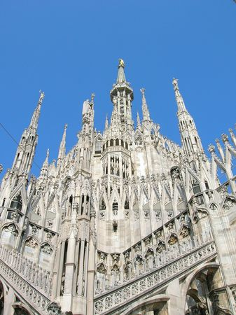 Milans Duomo Cathedral. Stock Photo