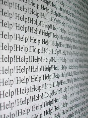 """courtoisie: Le mot """"Help!"""", A r�p�t� � plusieurs reprises."""
