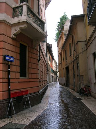 constricted: Street in Verona, Italy.