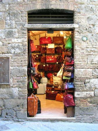 Italian shopping. Stock Photo