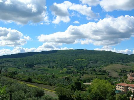 The Tuscan landscape.